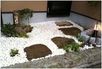 お風呂専用の坪庭